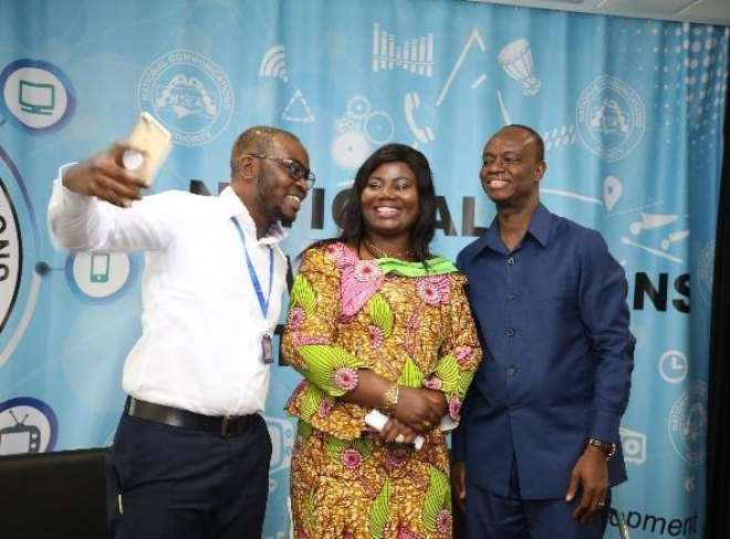 Selfie Time With The Cop Maame Tiwaa Addo-danquah And Mr. Joe Anokye