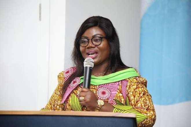 Director General Of Cid, Cop Maame Tiwaa Addo-danquah Giving Her Remarks