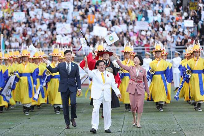 Chairman Of Hwpl, Chairwoman Of Iwpg, General Director Of Ipyg Entered The Stadium