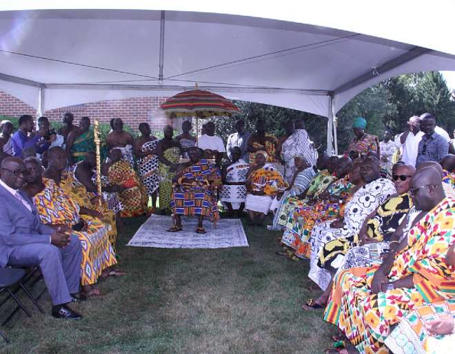 Otumfuo Sitting In State