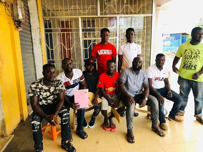 Some newly-registered miners at Wassa Akropong