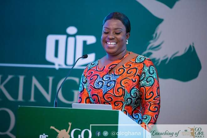 Brand Ambassador for the 'Go Girl' policy Obuobia Darko-Opoku