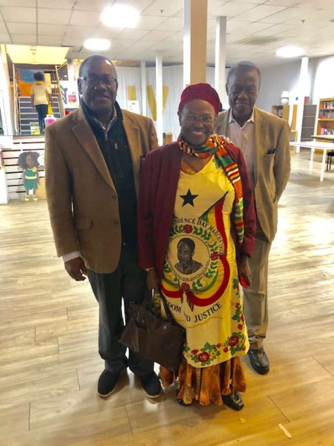 L. Prof.Thad Ulzen, Middle- Mrs. May Stellah Dontoh and R. Dr. Kofi Roberts