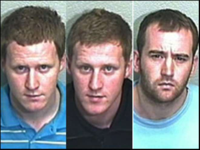 Prison worker Chris Hill (left), was among three men convicted of smuggling phones into prison