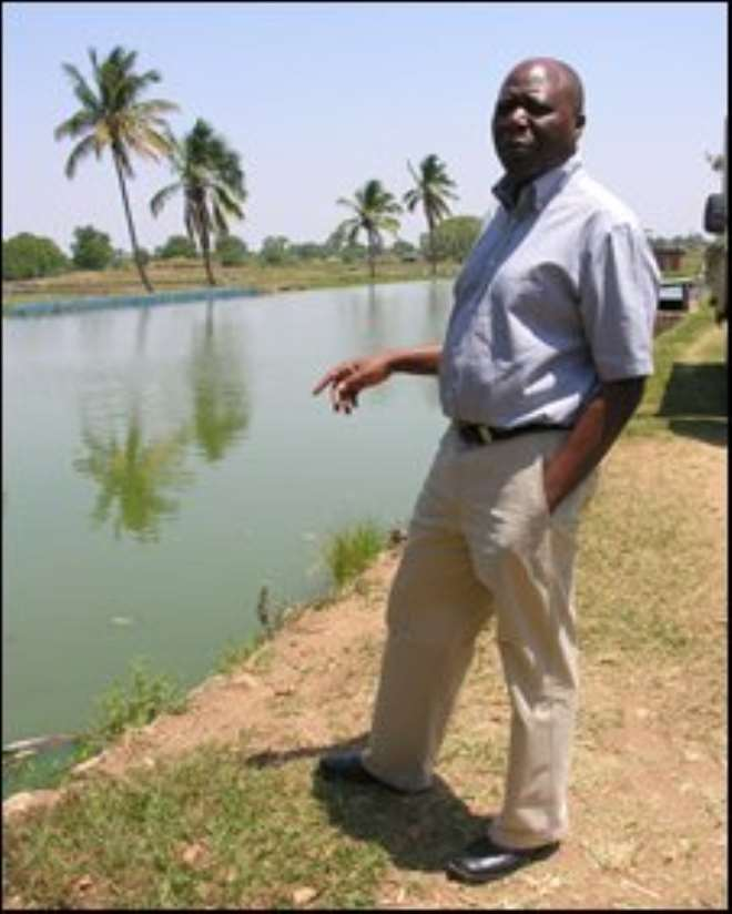 Daniel Jamu oversees tilapia breeding at the WorldFish research centre