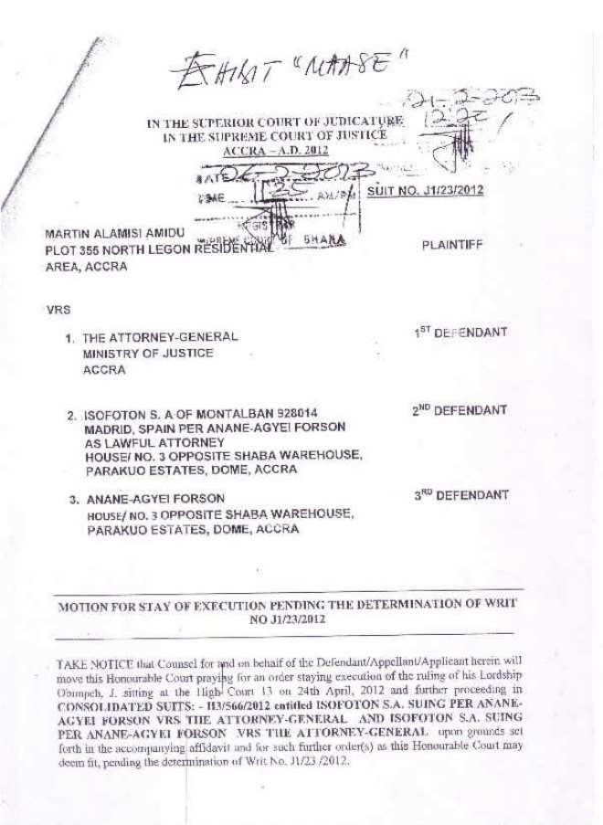 amidu v isofoton  application for status quo page 08