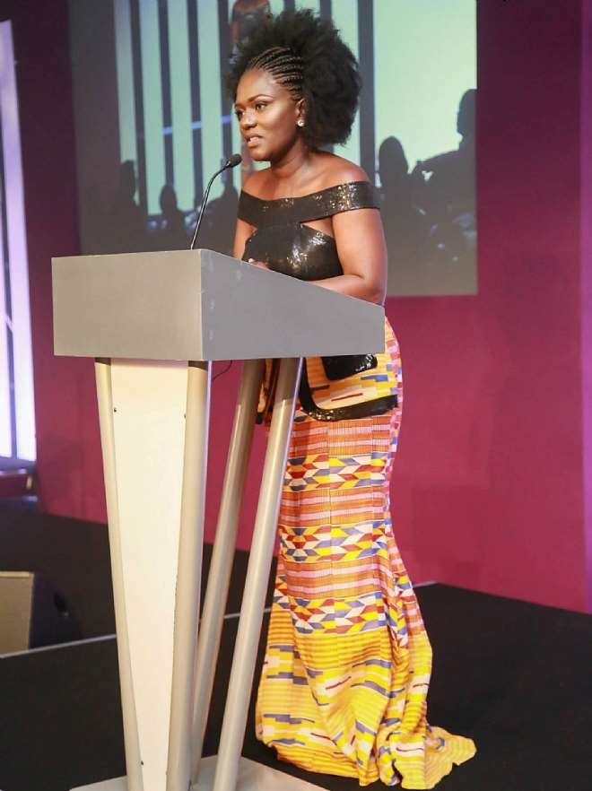 Ceo Dentaa Giving Her Speech At The Guba 2015 Awards