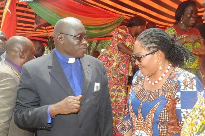 FIRST LADY AND THE CHAIRMAN OF THE PRESBYTARIAN CHURCH OF BRONG AHAFO, KWADZO OWUSU SARPONGCHURCH