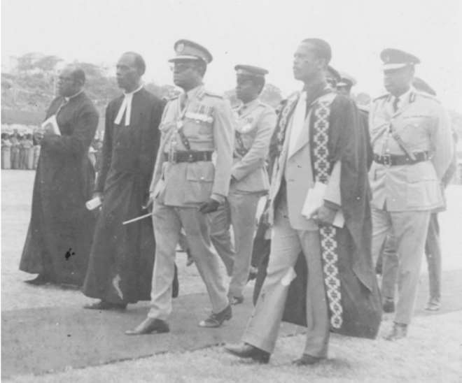 Acquaye-Baddoo With Late Gen. Kutu Acheampong During The Centenary Celebrations In 1976