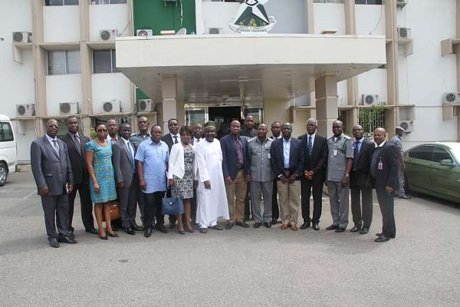 GROUP PHOTOGRAPH OF NIGERIA CUSTOMS TEAM WITH THE DELEGATES
