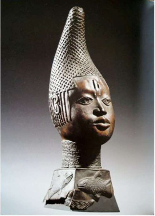 HEAD OF QUEEN MOTHER ,IYOBA, BENIN, NIGERIA, ETHNOLOGISCHES MUSEUM, BERLIN, GERMANY