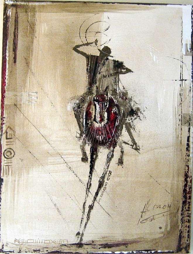 HORSEMAN, 86 X 56 CM, 2007