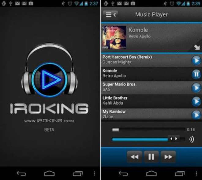 iROKING mobile app on ANDROID