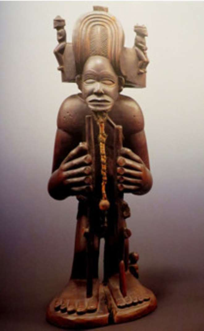 KING FIGURE, CHIBINDA ILUNGA, CHOCKWE, ANGOLA, NOW IN ETHNOLOGISCHES MUSEUM, BERLIN, GERMANY