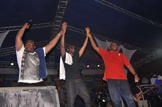 LAFF UP, 2FACE & GBENGA ADEYINKA AT STAR MUSIC TREK, LAGOS