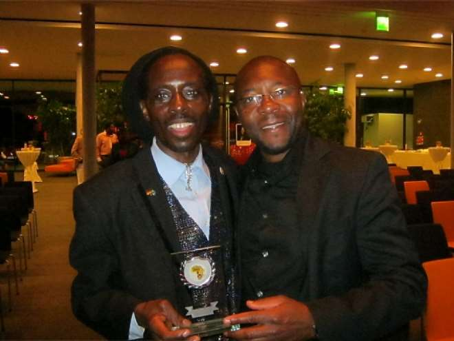 MUSICIAN EBRAHIM MAKUNJA AND MR.TATAH OF AFRICA ACTIVE ASSOC.