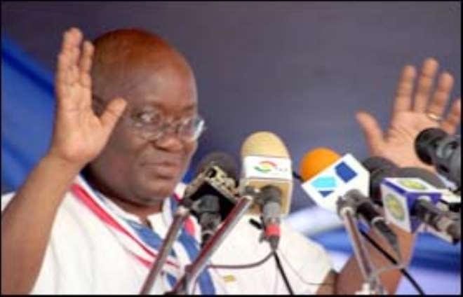 A TEACHER at the Kintampo Senior High School in the Brong Ahafo Region, Kwabena Baffoe Sarkodie, has taken politics to another level by allegedly invoking a river deity against Nana Akufo-Addo, flagbearer of the New Patriotic Party (NPP) and some leading figures of the ruling party.