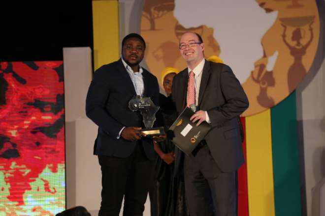 OLUFUNBI FALAYI, WINNER THE FUTURE AWARDS AFRICA PRIZE  IN ENTERPRISE SUPPORT. #TFAA10