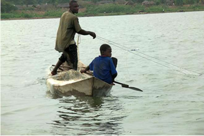 A Child Working On Lake Volta: Photo Taken By Eric Peasah