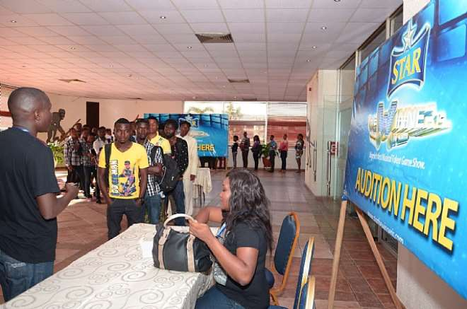 REGISTRATION TABLE FOR STAR THE WINNER IS ABUJA AUDITIONS