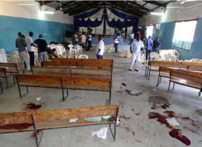 A Scene In A Church At Mombasa After An Attack That Occurred This Year