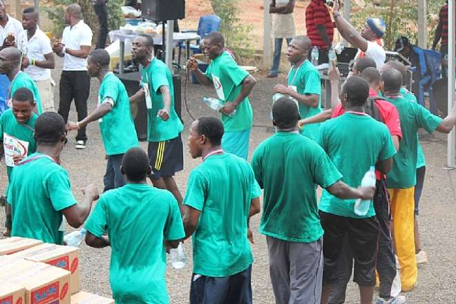 CROSS SECTION OF PARTICIPANTS DANCING