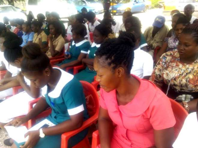 SOME HEALTH WORKERS AT JUABEN HOSPITAL