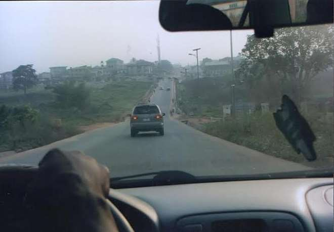 NEW ROAD 1 WITH BRIDGE LEADING TO CONCORDE HOTEL FROM JPROSS ROAD CONSTRUCTED BY IMO SPEAKER AND HIS FRONT