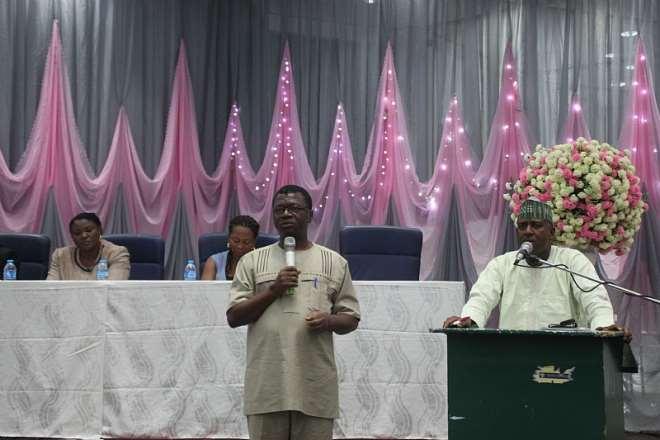 Pastor Bede Ogu addressing the audience