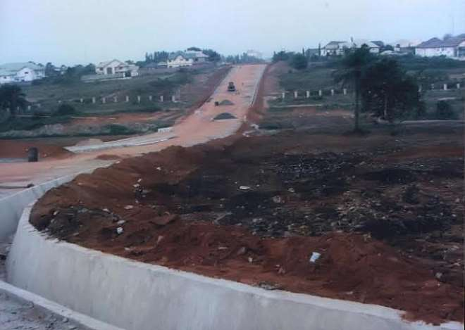 NEW ROAD 2 WITH BRIDGE LEADING TO CONCORDE HOTEL FROM JPROSS ROAD CONSTRUCTED BY IMO SPEAKER AND HIS FRONT