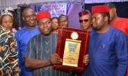 Governor Ifeanyi Ugwuanyi, Joel Ugwoke, Bag FirstNews Magazine Award
