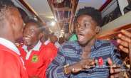 VIDEO: Watch As Kuami Eugene Join Kotoko Players To Celebrate Hearts Win