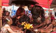 Kwahu Chief And His People Mourn Late Queenmother Of Suhum