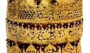 Crown of Tewodros II, looted at Maqdala, Ethiopia in 1868, now in Victoria and Albert Museum, London, United Kingdom.