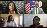 Clockwise from top left: Amanda Obidike, Russell Brooks, Kolisa Yola Sinyanya and, Dr. Demilade Fawemiwo