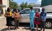 Education Ministry Donates Pick-up To Free SHS Ambassador Rahim Banda