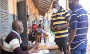 Freddie Blay during his tour at some of the registration centres