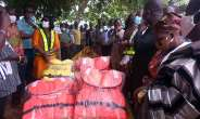 Birim Central Assembly Presents Canoe, Life Jackets To Farmers