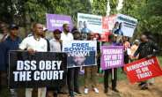 Omoyele Sowore's supporters have been protesting for his release after he faced treason charges.  By Kola Sulaimon (AFP)