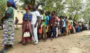 Polls closed at 1600 GMT Saturday after what had been a peaceful election day with a moderate turnout.  By PIUS UTOMI EKPEI (AFP)