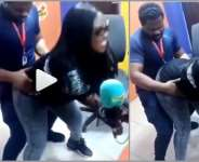 VIDEO: Ghanaians React To Video Of Emelia Brobbey 'Grinding' Fiifi Pratt