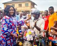 Prestea Huni-valley MP Donates Helmets To Motorcycle Riders Association