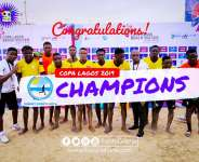 Keta SunSet Win 2019 Copa Lagos Beach Soccer Cup