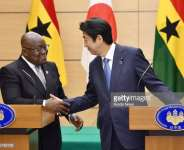 Akuffo-Addo of Ghana and Chinzo Abe of Japan. Credit to Getty images
