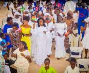 Prestea Huni-valley constituents join Barbara Oteng-Gyasi as she holds thanksgiving service
