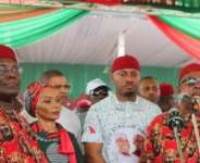 Nollywood Actor, Yul Edochie Spotted at PDP Rally in Imo state