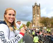 Helen Glover of Great Britain during a Rio 2016 Victory Parade for the British Olympic and Paralympic teams on October 17, 2016 in Manchester, England  Image credit: Getty Images