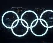 Olympic rings light up Tokyo Bay  Image credit: Eurosport