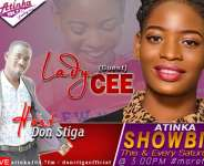 [Watch live] Gospel singer Lady Cee reveal projects for 2021 on 'Atinka Showbiz'