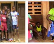 Some of the beneficiaries  after they were presented with their kits.